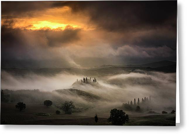 Waves Of Fog Greeting Card