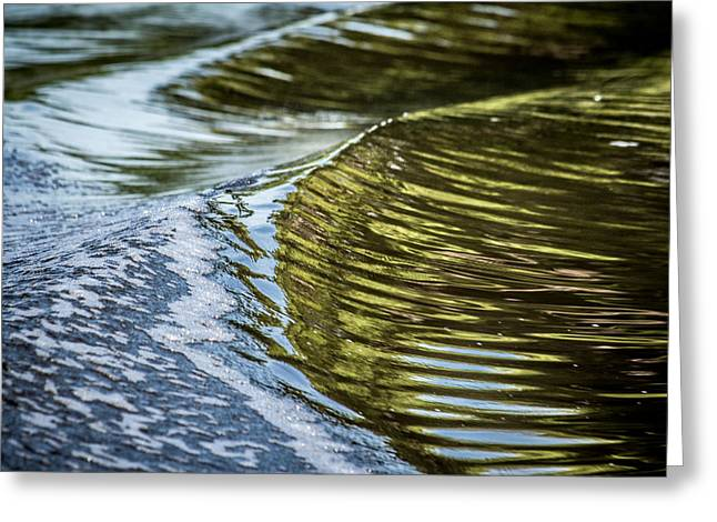 Waves Of Reflections Greeting Card