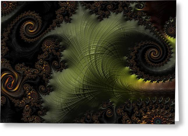 Waves Of Resonance Greeting Card by Owlspook