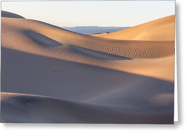 Waves Of Sand Greeting Card by Jon Glaser
