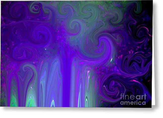 Waves Of Violet - Abstract Greeting Card