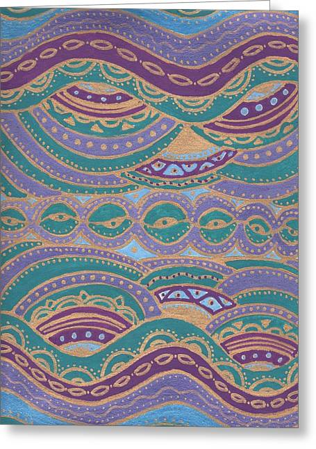 Waves Of Wellness Greeting Card by Sri Devi