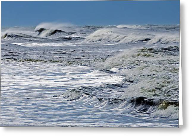Waves Off Sandfiddler Rd Corolla Nc Greeting Card