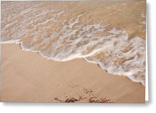 Waves On The Beach Greeting Card by Adam Romanowicz