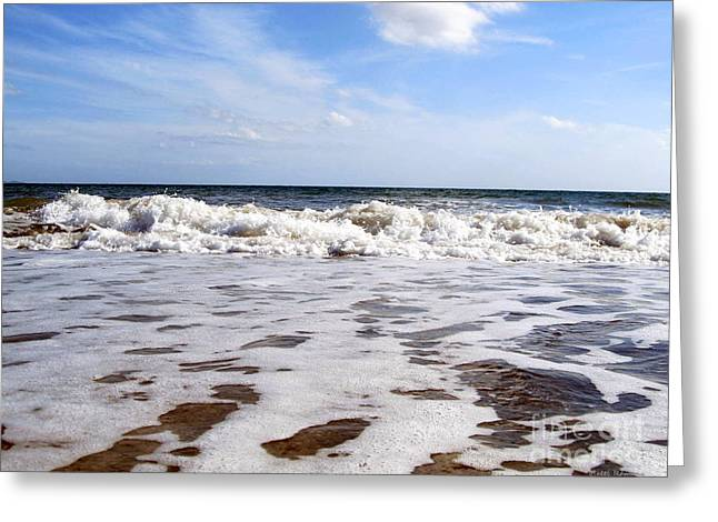 Waves Greeting Card by Ramona Matei