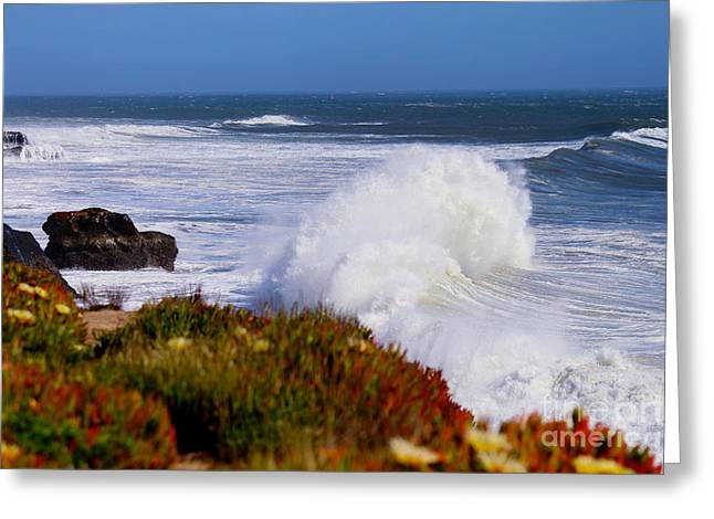 Greeting Card featuring the photograph Waves by Theresa Ramos-DuVon