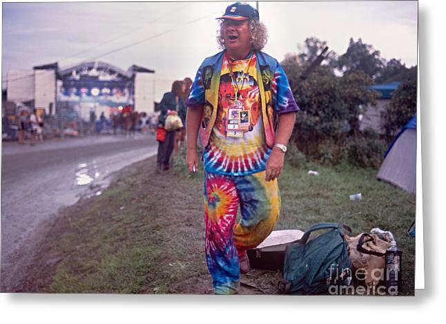 Wavy Gravy At Woodstock Greeting Card by Chuck Spang
