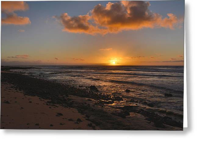 Wawamalu Beach Sunrise - Oahu Hawaii Greeting Card