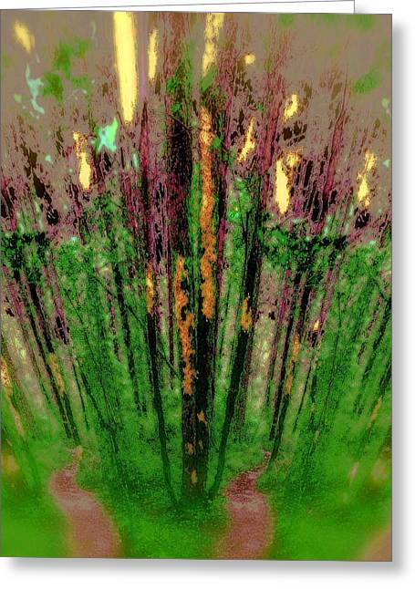 Wax Forest Cathedral Greeting Card
