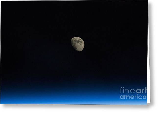 Waxing Gibbous Moon Greeting Card by Science Source