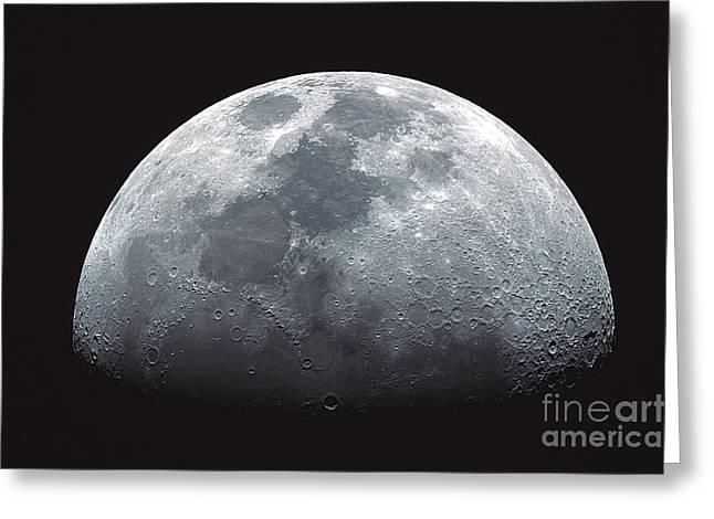Waxing Moon Greeting Card by John Chumack