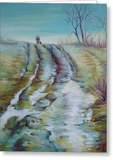 Way Home Greeting Card by Elena Oleniuc