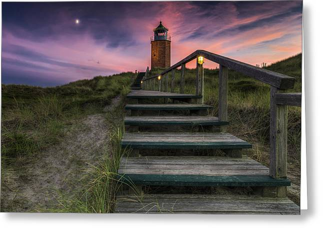 Way To Lighthouse Greeting Card
