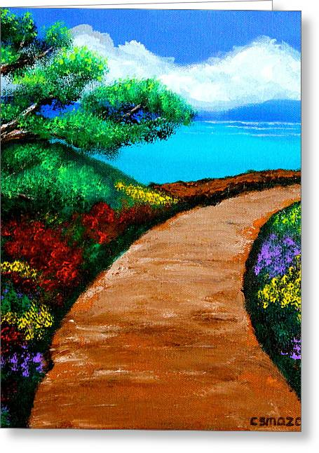 Way To The Sea Greeting Card