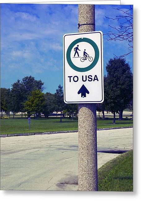 Greeting Card featuring the photograph Way To The Usa by Bob Pardue