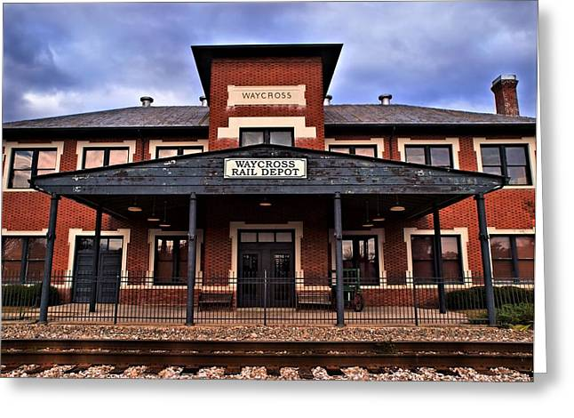 Greeting Card featuring the photograph Waycross Depot by Laura Ragland