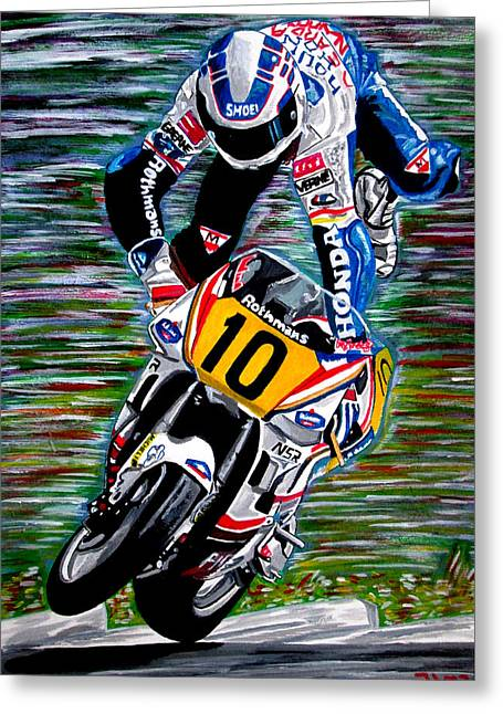 Wayne Gardner Greeting Card by Jose Mendez