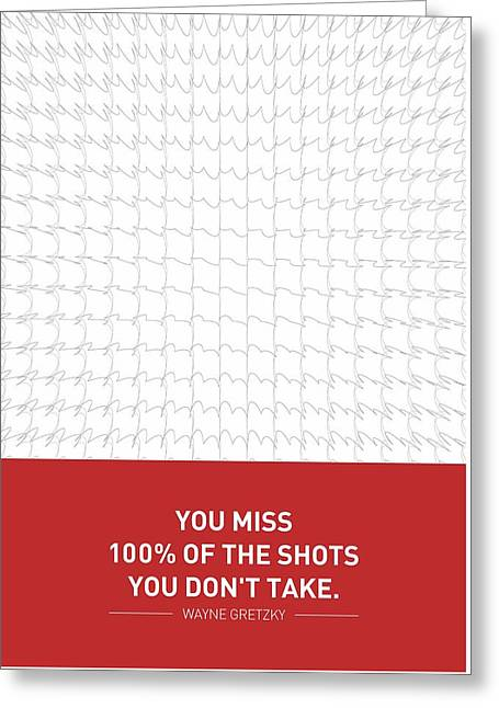 Wayne Gretzky Sports Quotes Poster Greeting Card by Lab No 4 - The Quotography Department