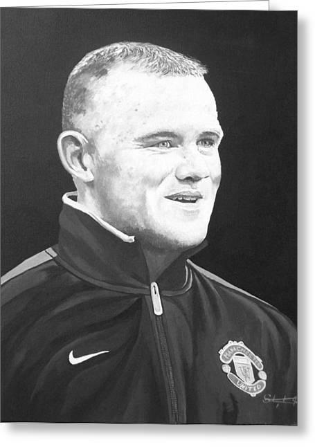 Wayne Rooney Greeting Card by Stephen Rea
