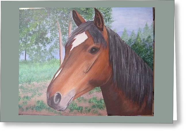 Wayne's Horse Greeting Card