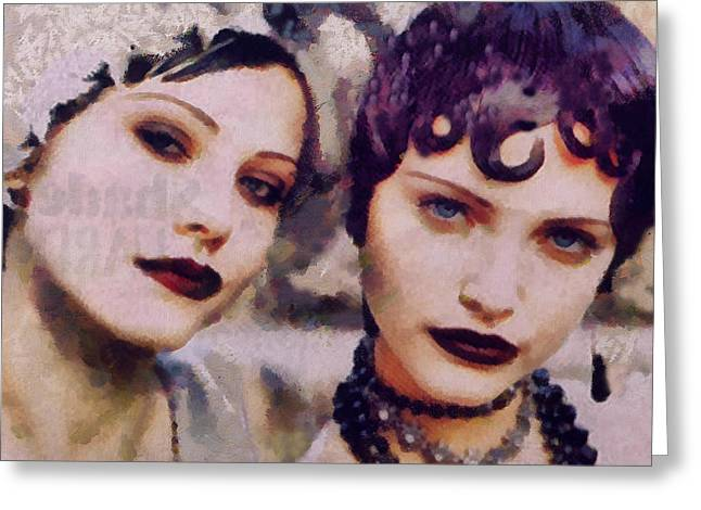Wayward Vamps  Greeting Card by Janice MacLellan