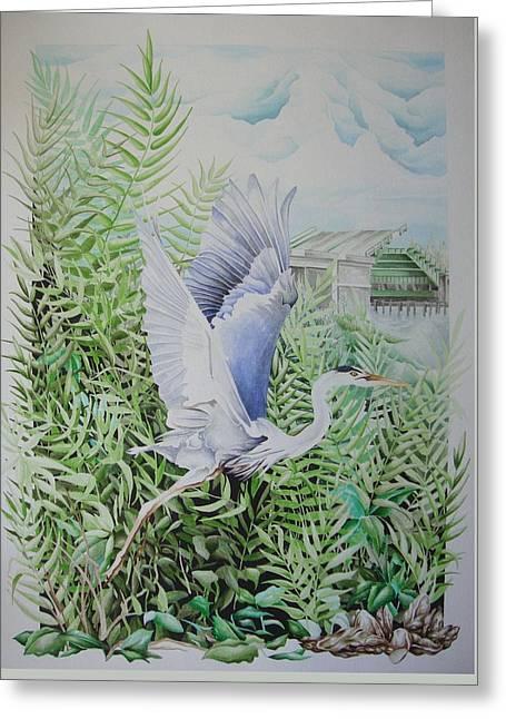 Wrightsville Blue Heron Greeting Card
