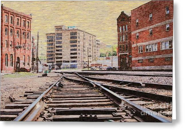 Wb - West Bottoms - Kcmo Greeting Card by Liane Wright