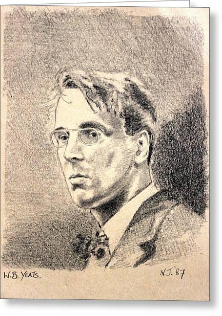 W.b. Yeats Greeting Card by John  Nolan