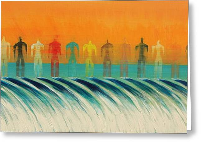 Greeting Card featuring the painting We Are All The Same by Tim Mullaney