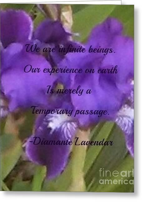 We Are Infinite Beings Greeting Card