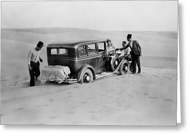 We Are Stuck Circa 1920 Greeting Card