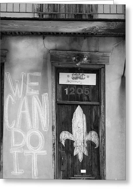 We Can Do It Greeting Card by Jean  Manale