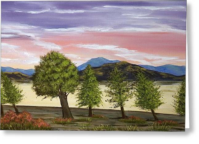 Greeting Card featuring the painting We Learn To Bend To The Wind by Susan Culver