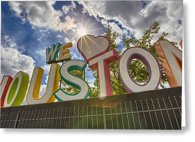 We Love Houston Greeting Card