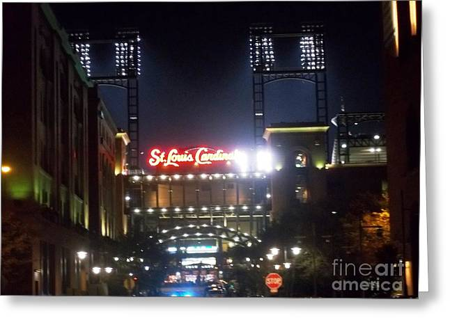 Greeting Card featuring the photograph We Love Our Redbirds by Kelly Awad