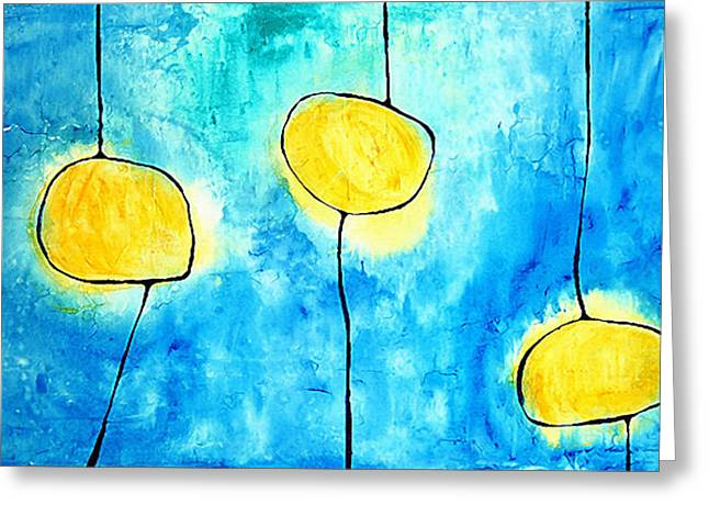 We Make A Family - Abstract Art By Sharon Cummings Greeting Card