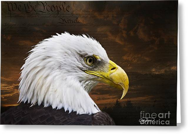 We The People Greeting Card by Cris Hayes