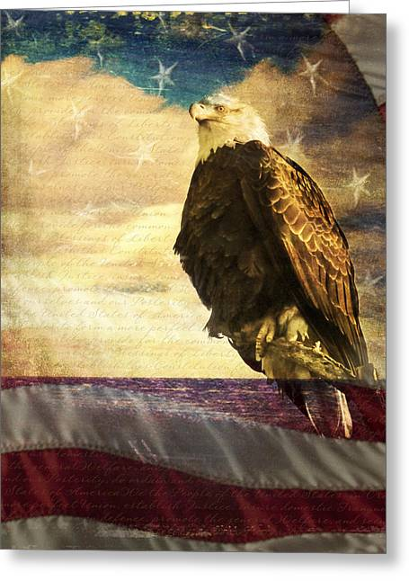 We The People Greeting Card by Eleanor Abramson