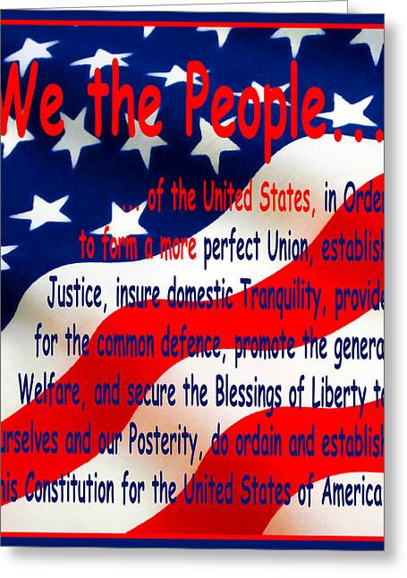 We The People Greeting Card by Floyd Snyder