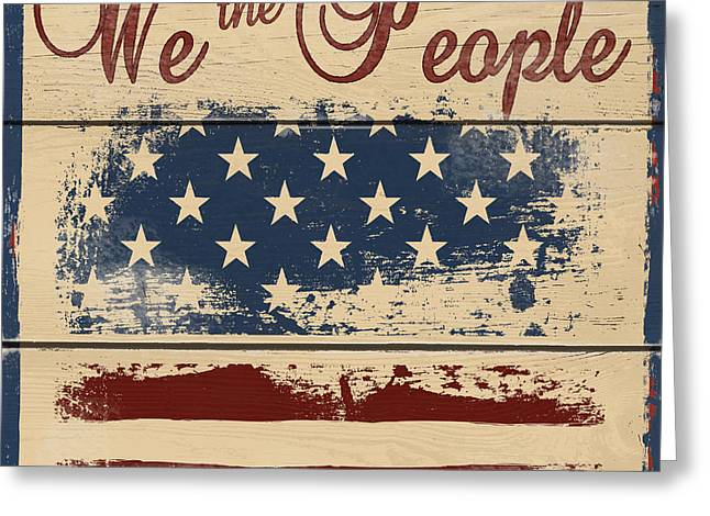 We The People Greeting Card by Gail Fraser