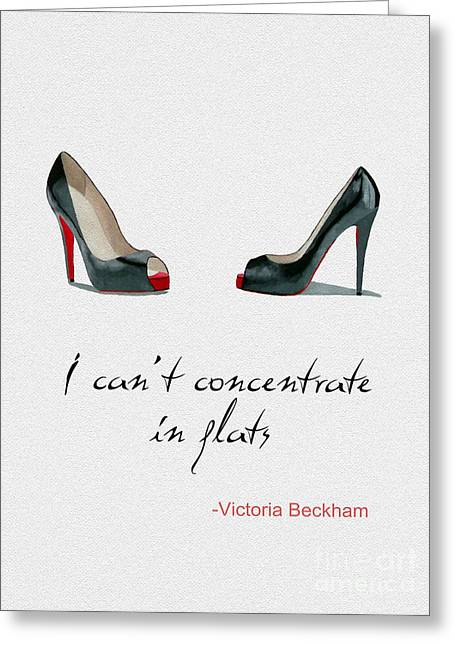 Wear The Right Shoes Greeting Card