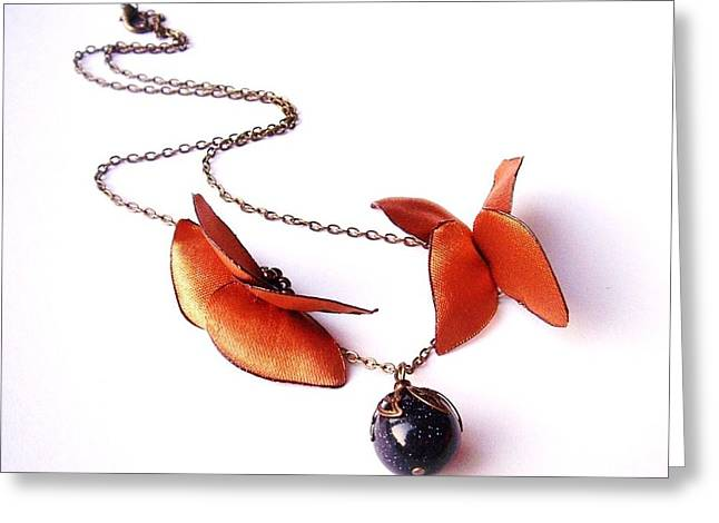 Wearable Art . Never Ending Love . One Of A Kind Necklace Greeting Card