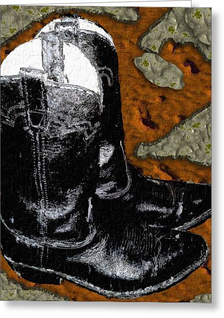 Weary Traveler's End Greeting Card by Pharris Art