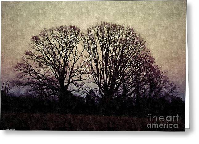 Weary Winter Greeting Card by Christy Ricafrente