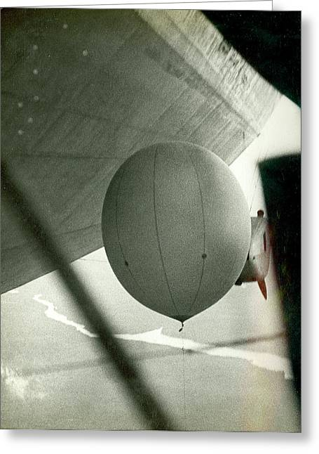 Weather Balloon Launch From Graf Zeppelin Greeting Card by Us Coast Guard