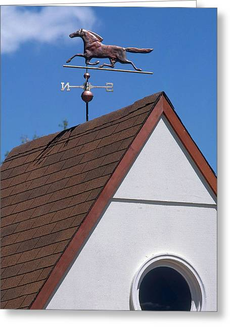 Weather Vane Greeting Card by Del Mulkey