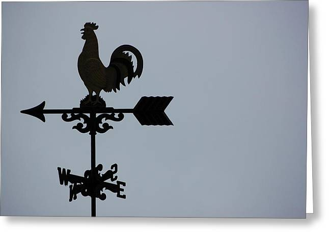 Weather Vane Greeting Card by Eric Chamberland
