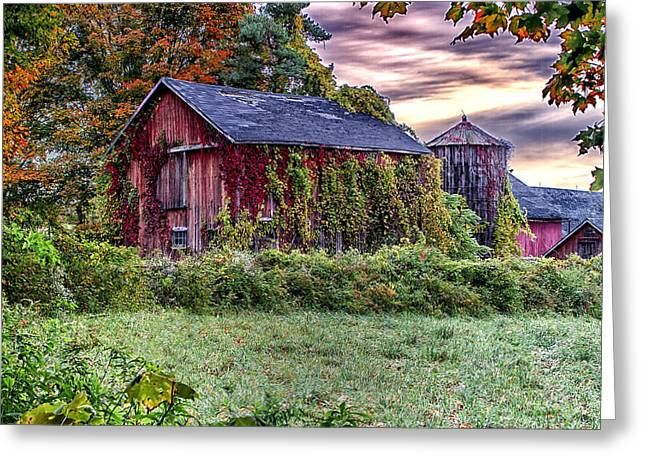 Weathered Connecticut Barn Greeting Card