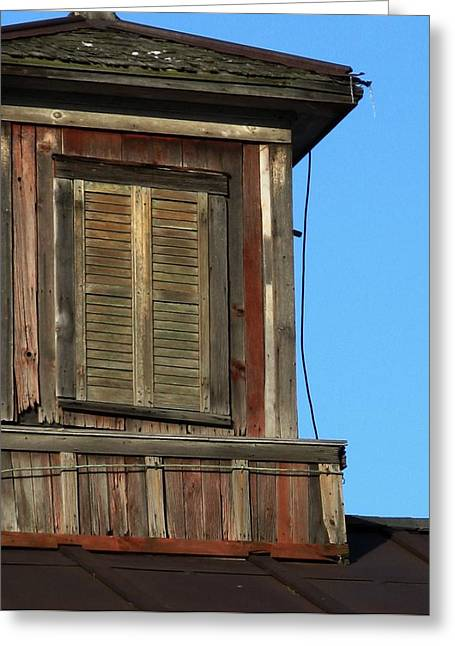 Weathered Cupola Greeting Card by Debbie Finley