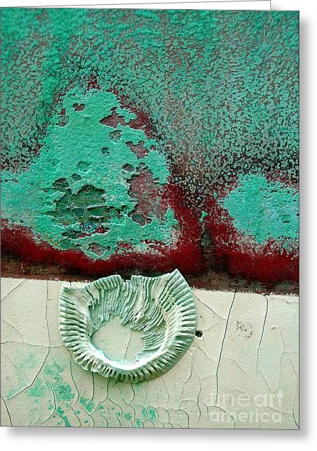 Greeting Card featuring the photograph Weathered Heart by Robert Riordan